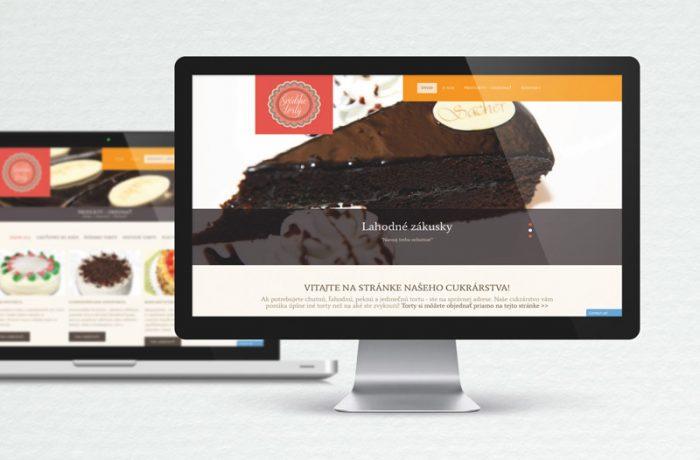 Web stránka Švédske torty