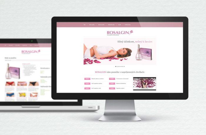 Web stránka Rosalgin.sk