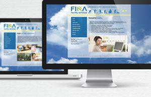 Grafický dizajn web stránka FINA