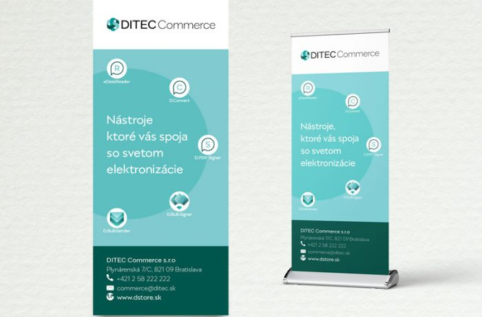 Roll Up Ditec Commerce