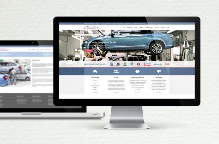 Dizajn web stránky AOMV SR